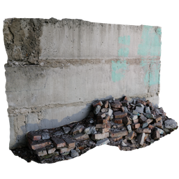 Thumbnail: Debris of bricks and a wall