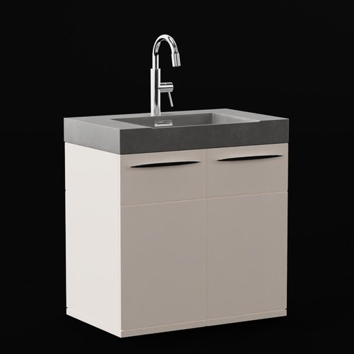 Sink with cupboard