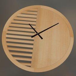 Thumbnail: Wooden clock