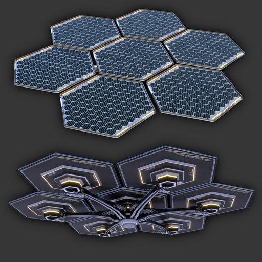 Sci-Fi Solar Panels Module