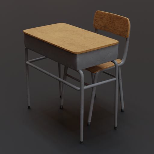 Thumbnail: School Desk and Chair