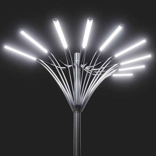 Thumbnail: Modern Street Lamp (tall) #02