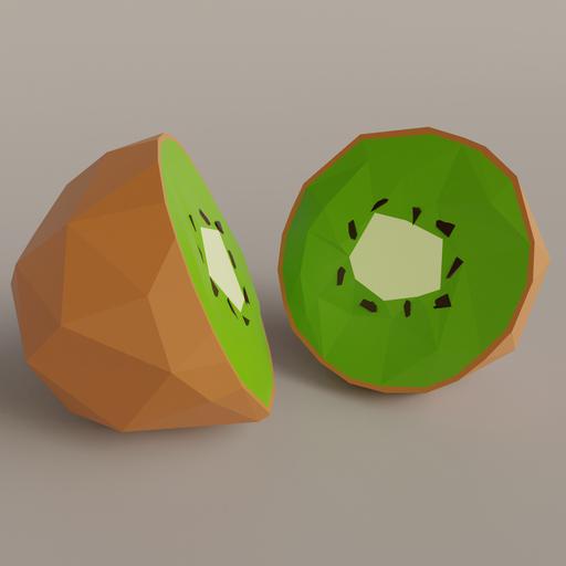 Thumbnail: Low Poly Sliced Kiwi