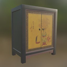 Thumbnail: Chineese painted cabinet