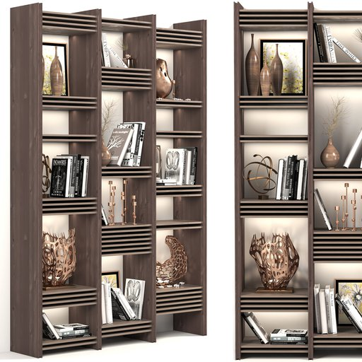 Thumbnail: Decorative Wardrobe and bookcase