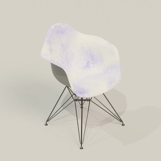 Thumbnail: Modern plastic metal chair