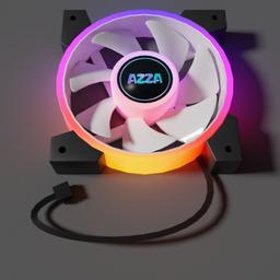 Thumbnail: FAN AZZA Hurricane II Digital RGB 120mm