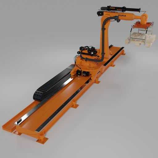 Robot KUKA KR210 + flange + linear axis