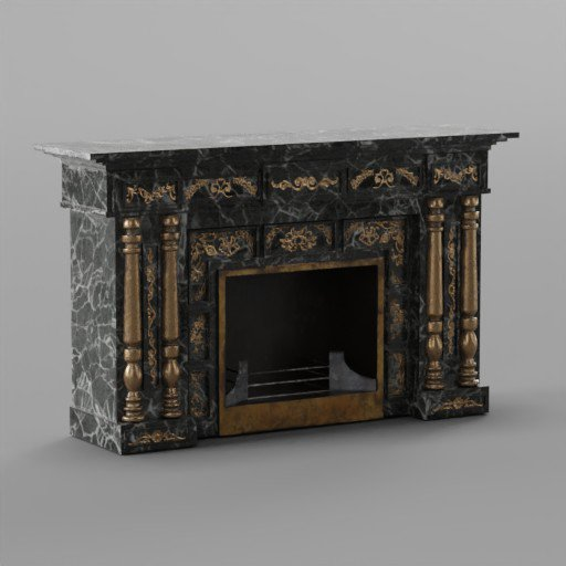Thumbnail: Rococo fireplace 1870