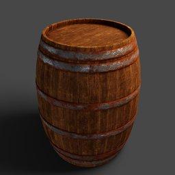 Thumbnail: Old wooden barrel big