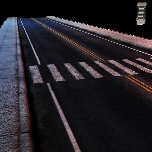 Thumbnail: Street Module 04 - Lowpoly - Straight street Minor W/crosswalk