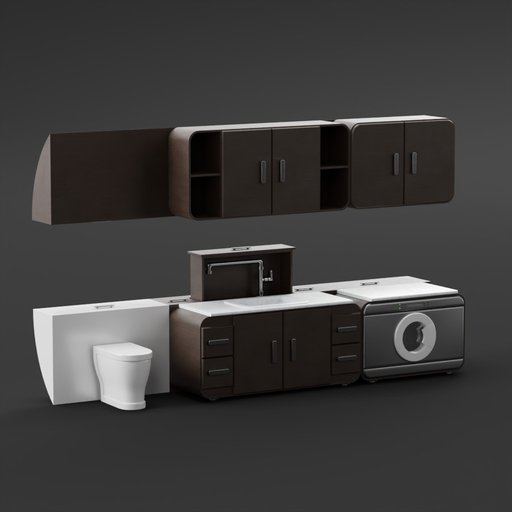 Thumbnail: Dark Wood Bathroom Furniture
