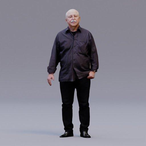 3D soul - standing man - Karel
