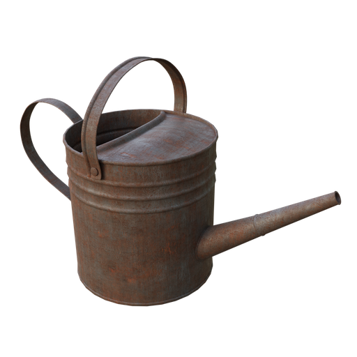 Thumbnail: Old rusty watering can