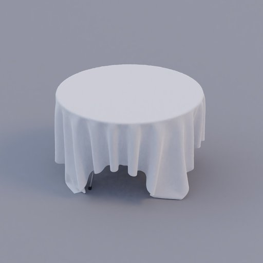 round restaurant table with table-cloth