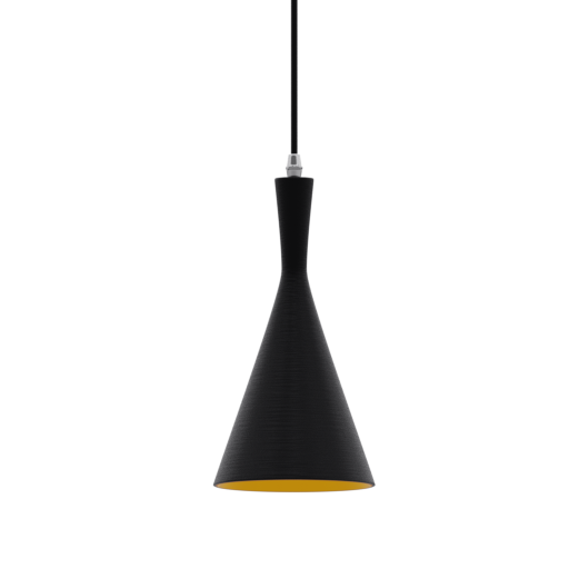 Thumbnail: Pendant Lamp Dixon Black and Gold-03