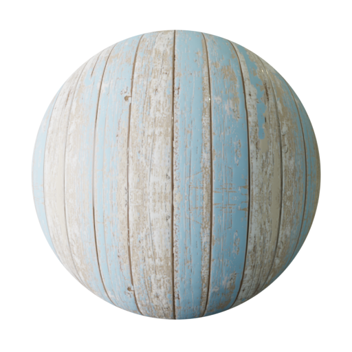 Thumbnail: Faded Blue Painted wood plank PBR texture seamless