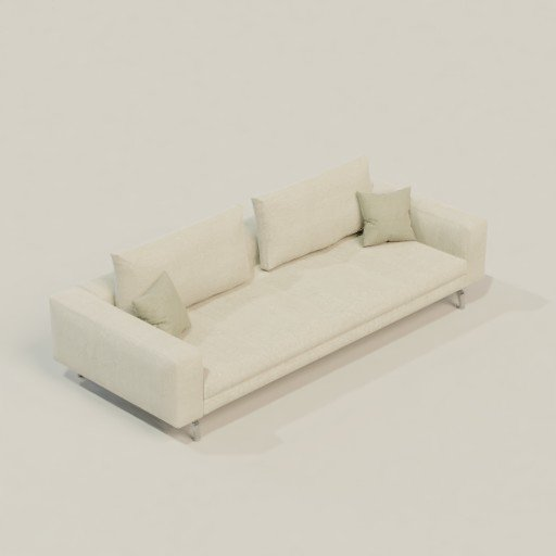 Thumbnail: Zanotta Bruce couch with cushions