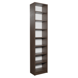 Thumbnail: Dark Narrow Bookshelf