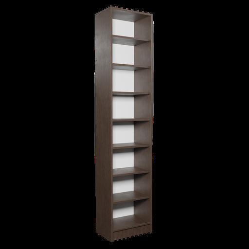 Dark Narrow Bookshelf