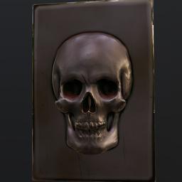 Thumbnail: Skull relief - metal