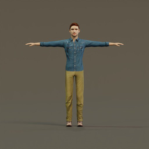 Thumbnail: Man Casual T-Pose Rigged