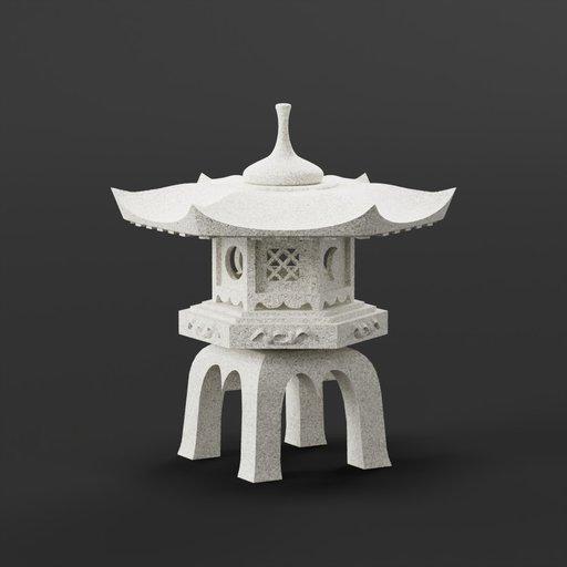 Thumbnail: Rokkaku Yukimi Japanese Lantern