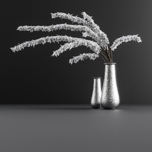 Decoration set with vase and deco plant