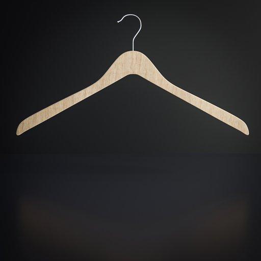 Thumbnail: Wooden coat hanger