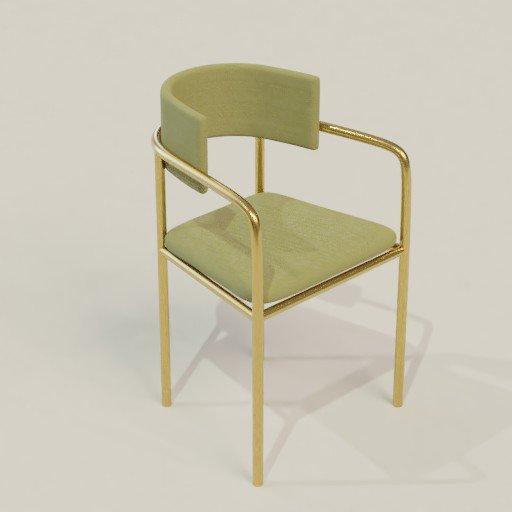 Thumbnail: Brass chair
