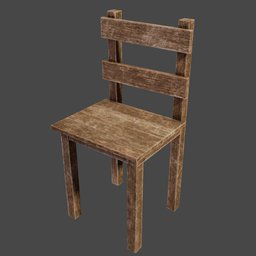 Thumbnail: medieval wooden chair