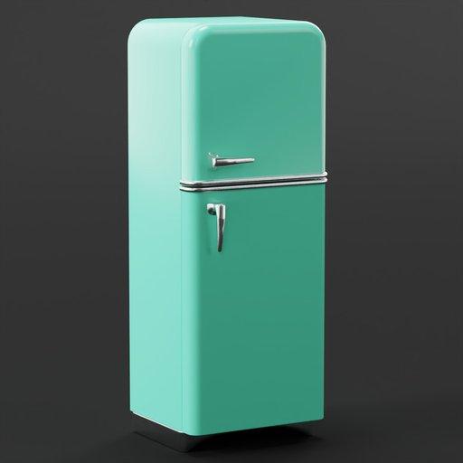 Thumbnail: Retro Refrigerator 70x50x180