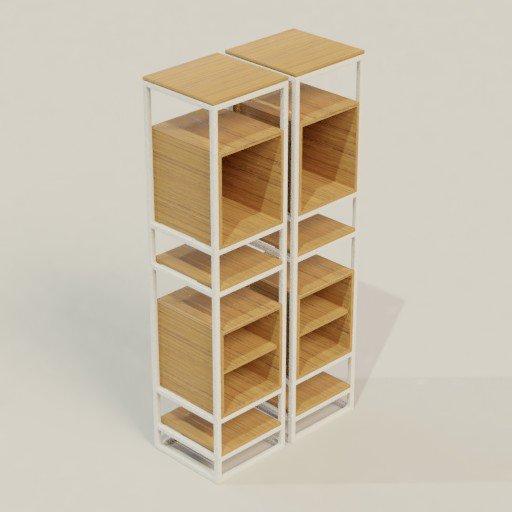 Thumbnail: Rack Shelving Bookcase 105 x 50 x 210