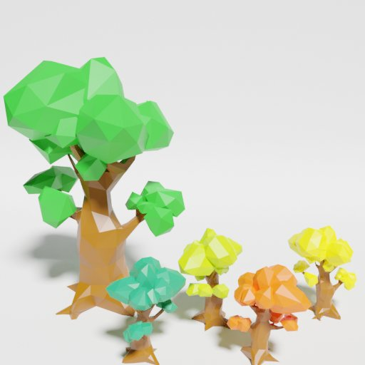 Thumbnail: Low Poly Oak 2 Singlecolor