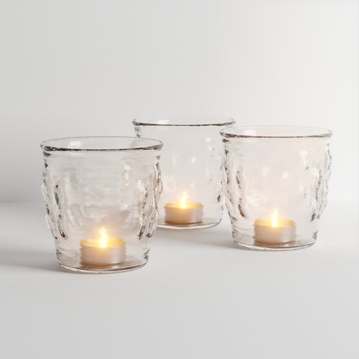 Thumbnail: Candles in Glass Decoration