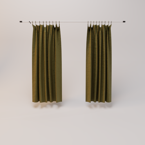 Curtain olive green