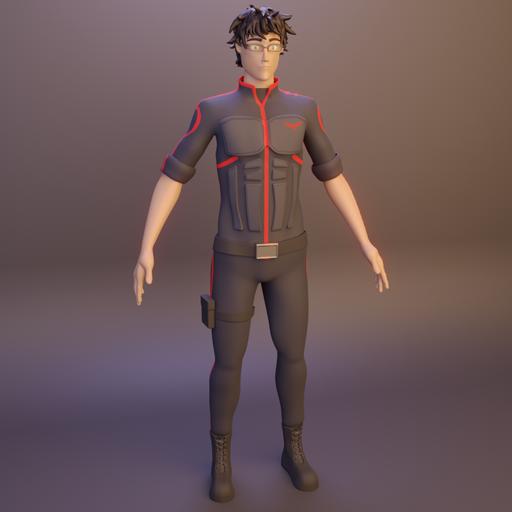 Man-Character-Rigged
