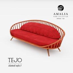 Thumbnail: AMALIA TEJO slatted sofa