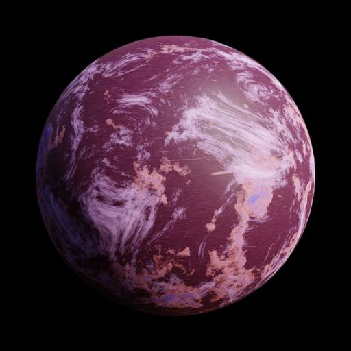 SciFi Purple Planet