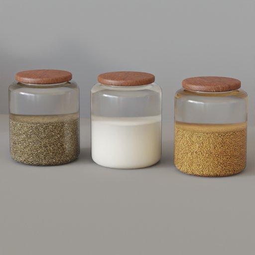 Thumbnail: KITCHEN SET 11 - Glass pots