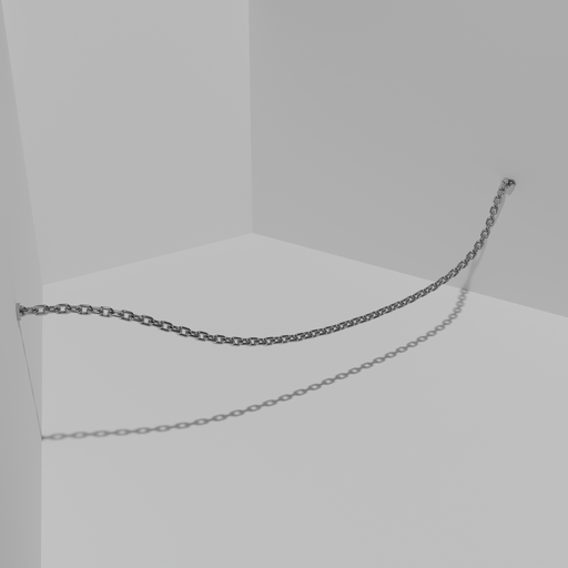 Thumbnail: A steel chain on a curve.