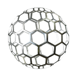 Thumbnail: Steel sheet perforated hexagonal