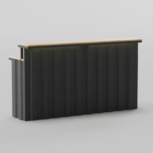 Thumbnail: Industrial Table Bar 180x60x100