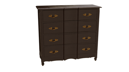 Wood Cabinet with gold handle