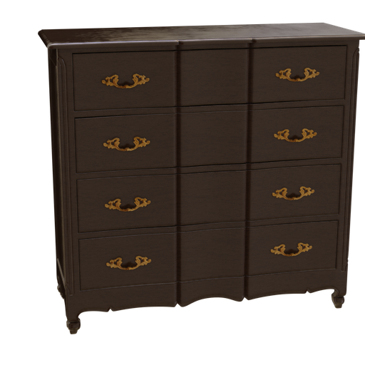 Thumbnail: Wood Cabinet with gold handle