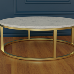 Thumbnail: Smart round marble brass coffee table