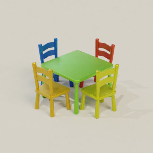 Thumbnail: Kids Table with Chairs