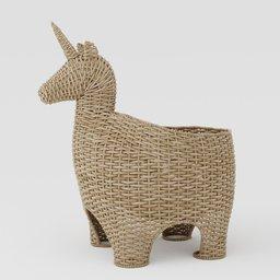 Thumbnail: Wicker basket unicorn