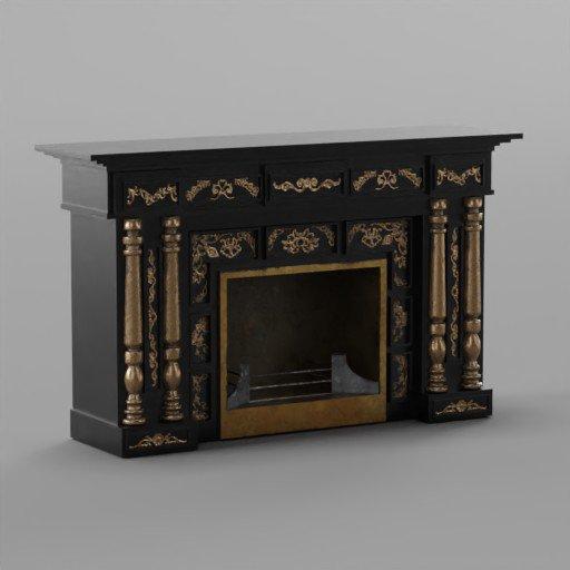 Thumbnail: Modern Rococo fireplace