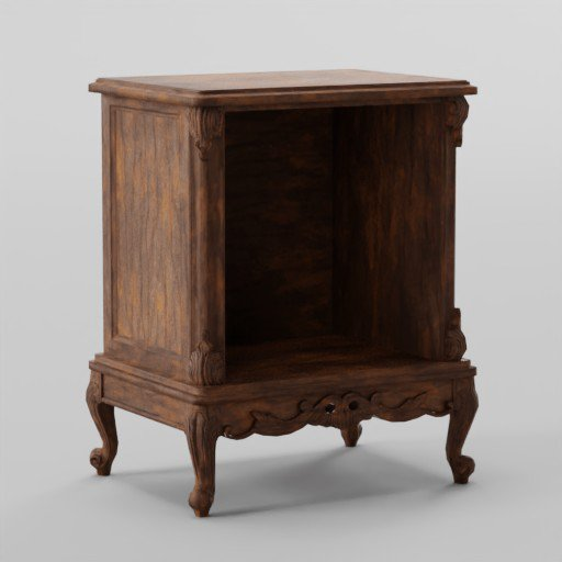 Bright Brown Classic nightstand